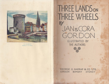 Three Lands On Three Wheels (Jan & Cora Gordon) Hardcover 2nd Reprint 1934 (B003TT2SU4)