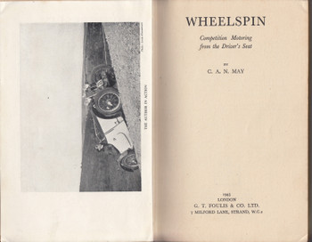 Wheelspin - Competition Motoring from the Driver's Seat (C.A.N. May) Hardcover 1st Edn. 1945 - No Dustjacket (B0007KB3YK)