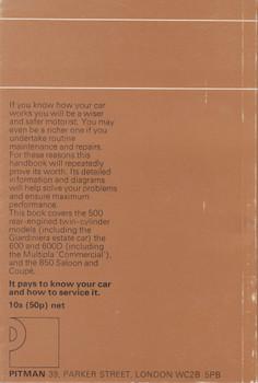 The Book of the Fiat (John Thorpe) Pitman Series Paperback Edn 1971 (9780273408437)
