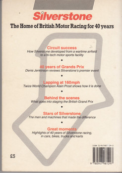 40 Silverstone Years (Ed. Ray Hutton) Paperback 1st Edn 1988 (9780947981297)