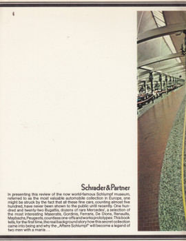The Schlumpf Automobile Collection (Wolfgang Drehsen Werner Haas and Hans-Jurgen Schneider) Paperback 1st Edn 1977 (9780903192163)