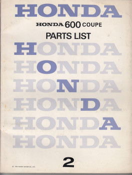 Honda 600 Coupe Parts List 2 (Honda Motor Company 1976) (H600C2)