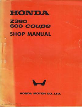 Honda Z360 / 600 Coupe Shop Manual (Honda Motor Company 1973) (HZ360C600SM)
