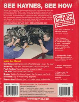 Volkswagen Golf, 2013 - 2016 Workshop Manual (9781785214165)