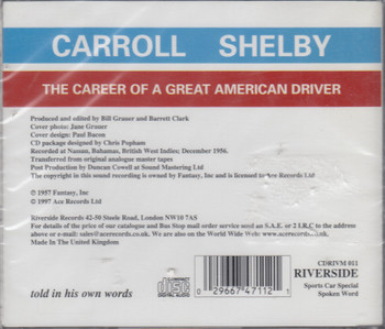 Carroll Shelby - The Career Of A Great American Driver -as told in his own words(Audio CD 2002) (029667471121)
