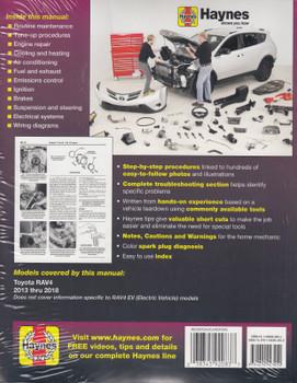 Toyota Rav4 2013 - 2018 Workshop Manual (Haynes, 92083) (9781620923252)