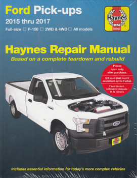Ford Pick-ups Full Size, F-150, 2WD & 4WD (all models) 2015 - 2017 Workshop Manual (Haynes 36063) (9781620922811)