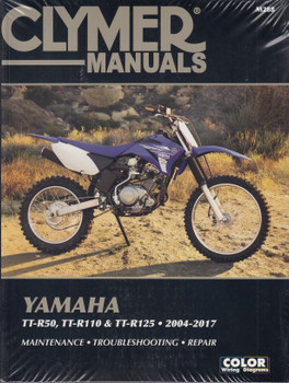 Yamaha TT-R50, TT-R110, TT-R125 2004 - 2017 Workshop Manual (Clymer, CM288)