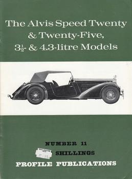 Car Profile Publications No 11 - The Alvis Speed Twenty & Twenty-Five, 3 1/2 & 4.3-litre Models