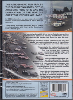 This Time Tomorrow and Target 200 - Le Mans 1966 & The Development of the Ford GT40 DVD (5017559108472)