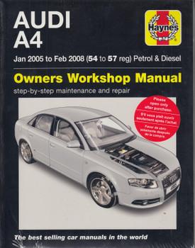 Audi A4 2005 - 2008 Petrol & Diesel Haynes Workshop Manual (4885) (9780857339959)