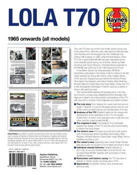 Lola T70 1965 Owners' Workshop Manual (9781785212079)