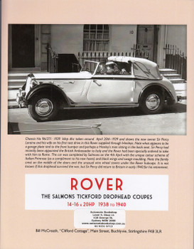 Rover - The Salmons Tickford Drophead Coupes