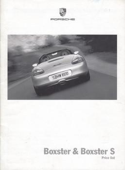 Porsche Boxster & Boxster S Price List
