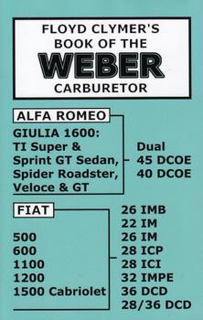 Floyd Clymer's Book of the Weber Carburetor (9781588501059)