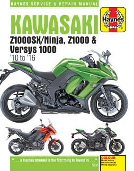 Kawasaki Z1000, Z1000SX & Versys (10 to 16) Haynes Repair Manual