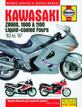Kawasaki ZX900, 1000 & 1100 Liquid-cooled Fours (83 - 97) Haynes Repair Manual