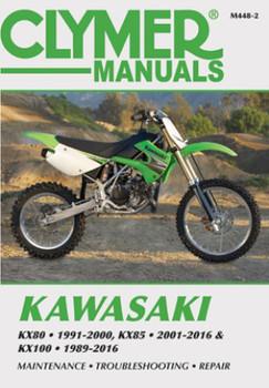Kawasaki KX80 (1991-2000), KX85/85-II (2001-2016) & KX100 (1989-2016) Service Repair Manual