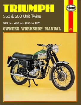 Triumph 350 & 500 Unit Twins (58 - 73) Haynes Repair Manual