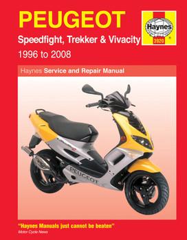 Peugeot Speedfight, Trekker & Vivacity Scooters (96 - 08) Haynes Repair Manual