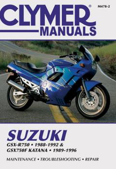 Suzuki GSX-R750 (1988-1992) & GSX750F Katana (1989-1996) Motorcycle Service Repair Manual