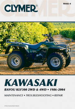 Kawasaki Bayou KLF300 2WD (1986-2004) & 4WD (1989-2004) Service Repair Manual