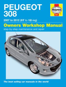 Peugeot 308 Petrol & Diesel (07 - 12) Haynes Repair Manual