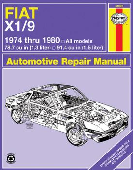 Fiat X1/9 (1974-1980) Haynes Repair Manual (USA)
