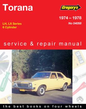 Holden Torana (74 - 78) Gregorys Repair Manual