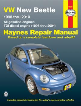 Volkswagen VW New Beetle 1.8 & 2.0L petrol (1998-2010) & 1.9L TDI diesel (1998-2004) Haynes Repair Manual (USA)