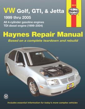 Volkswagen VW Golf, GTI, & Jetta (1999-2005)& TDI diesel (1999-2004) Haynes Repair Manual (USA)