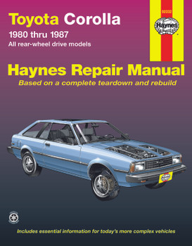 Toyota Corolla RWD (1980-1987) Haynes Repair Manual (USA)