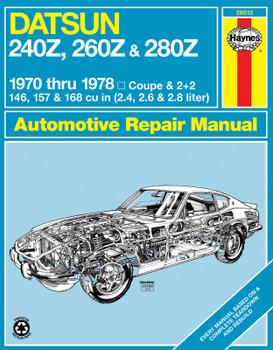 Datsun 240Z (1970-1973), 260Z (1974-1975) & 280Z (1976-1978) Haynes Repair Manual (USA)