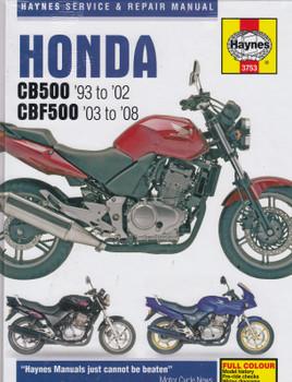 Honda CB500, CBF500 1993 - 2008 Haynes Service & Repair Manual (9781844257706)