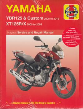 Yamaha YBR125 & Custom, XT125R/X 2005 - 2016 Haynes Service & Repair Manual (9781785213588)