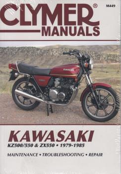 Kawasaki KZ500, KZ550, ZX550 1979 - 1985 Clymer Workshop Manual (9780892873630)