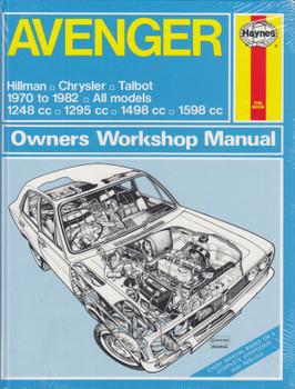 Avenger Hillman, Chrysler, Talbot 1970 - 1982 Haynes Owners Workshop Manual (9781850100584)