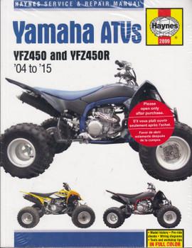 Yamaha ATVs YZF450, YZF450R 2004 - 2015 Haynes Service & Repair Manual (9781620922330)
