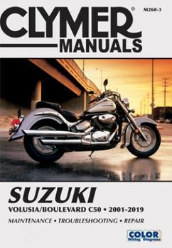 Suzuki Volusia Boulevard C50 2001 - 2019 Clymer Repair Manual (9781620923801)