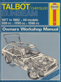 Talbot Chrysler Sunbeam 1977 - 1982 Haynes Owners Workshop Manual (9780856968075)