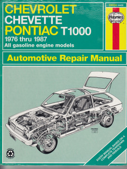 Chevrolet Chevette Pontiac T1000 1976 - 1987 Haynes Repair Manual (9781850103431)