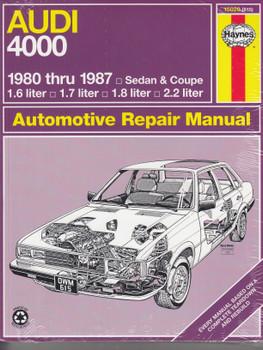 Audi 4000 1980 - 1987 Haynes Repair Manual (9781850102427)