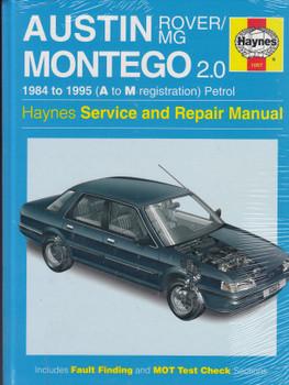 Austin Rover / MG Montego 2.0 1984 - 1995 Haynes Repair Manual (9781859602720)