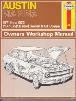 Austin Marina 1971 - 1975 Sedan & GT Coupe Haynes Workshop Manual