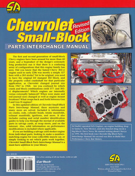 Chevrolet Small-Block Parts Interchange Manual - Revised Edition (Ed Staffel) (9781613254981)