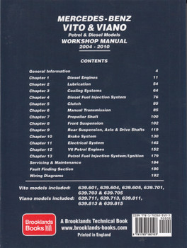 Mercedes-Benz Vito & Viano 2004-2010 Owners Workshop Manual