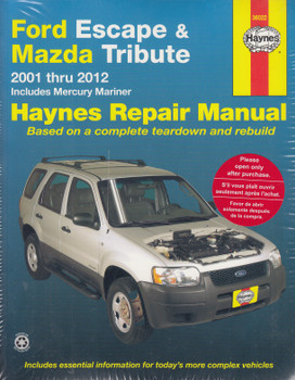 Ford Escape, Mazda Tribute, Mercury Mariner 2001 - 2012 Workshop Manual (9781620920756)