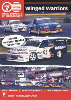 Classic Ford And Holden V8 Battles - Winged Warriors DVD (9340601002821)