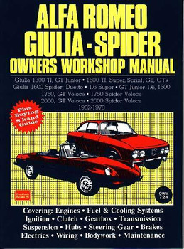 Alfa Romeo Giulia - Spider 1962 - 1987 Workshop Manual