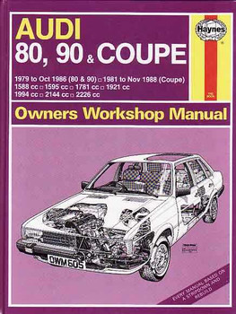 Audi 80, 90 & Coupe 1979 - 1988 Workshop Manual